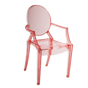 Children's Pink Ghost Clear Chair Hire London