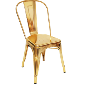 Gold Children's Metal Chair Hire London